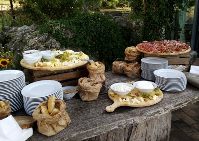 cheese salami buffet wedding reception Catering Cerinella