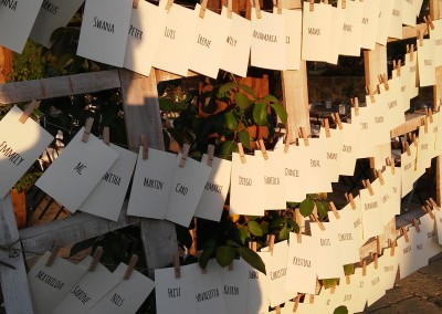 escort card rustic wedding