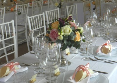 classic table setting with Chiavarina chairs