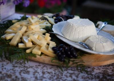 buffet di formaggio matrimonio toscana
