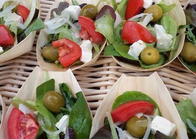 mediterranean salad, wedding buffet