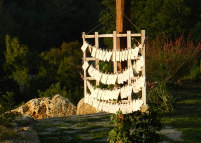 wedding escort cards rustic Tuscany