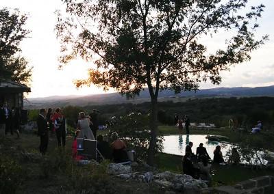 Tuscany garden aperitif