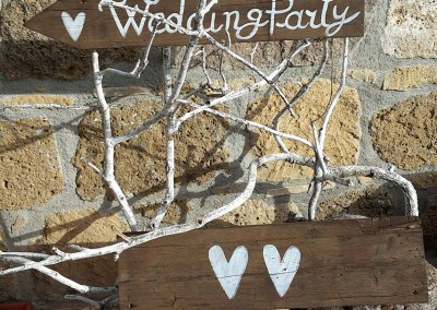 wedding party wood sign
