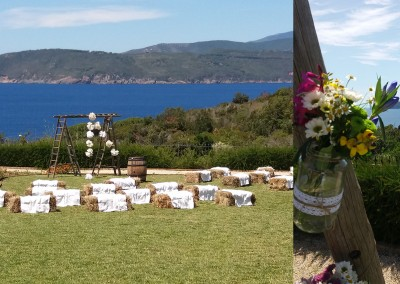 country_wedding_ceremony_tuscany_isoladelba_haybales_masonjars_cerinella_weddingplanner