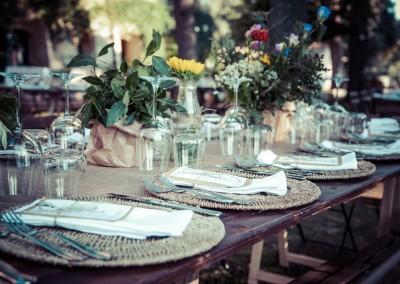 wedding tuscany - matrimonio in toscana- apparecchiatura country
