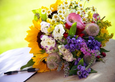 wedding tuscany - matrimonio in toscana - sunflower bouquet
