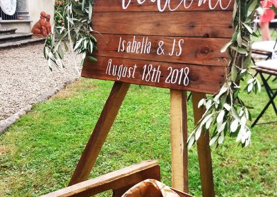 wedding_tuscany_welcome sign wedding_decoration_cerinella