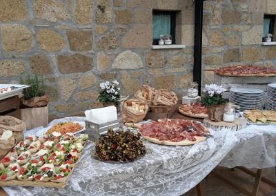 Wedding reception aperitif buffet