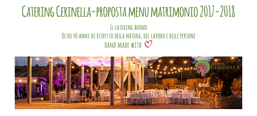 menù matrimonio Catering Cerinella in Toscana
