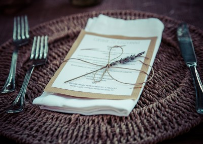 wedding tuscany - matrimonio in toscana - wedding menu with lavender and twine