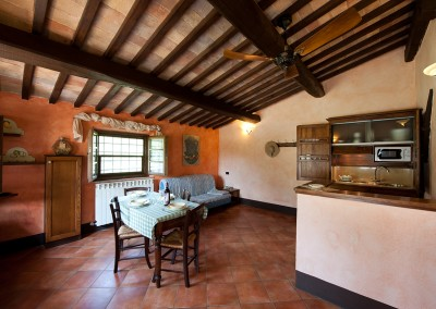 venue in val d'orcia, example of two-room apartment (2+2) - living room, cerinella wedding